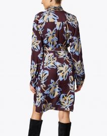 Aspesi - Deep Plum Camel and Blue Floral Dress