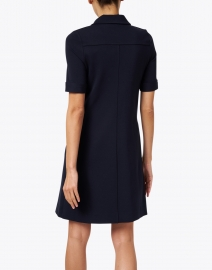 Goat - Lula Navy Jersey Henley Dress