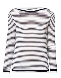 Ugolina Navy and White Striped Cotton Sweater