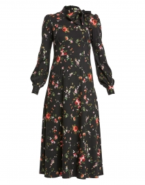 Kayla Black Floral Jersey Midi Dress