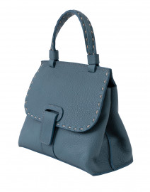 Lucque - Orleans Mini Dark Turquoise Pebbled Leather Handbag