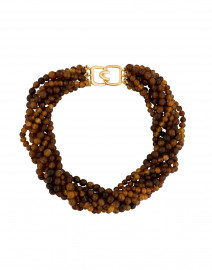 Brown Horn Beaded Necklace