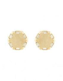 Meta Gold Crystal Stud Earrings