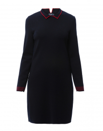 Geneve Navy Wool Sweater Dress