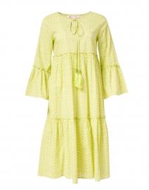 Dulce Light Green Dot Printed Cotton Dress