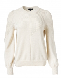 Ivory Ribbed Cotton Sweater