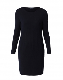Limony Navy Sweater Dress with Button Details