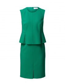 Depeplar Green Stretch Peplum Dress