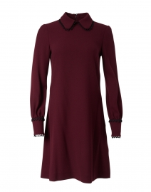 Jane - Marnie Plum Wool Crepe Dress