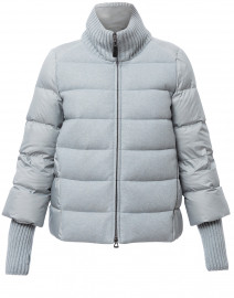 Ice Blue Puffer Jacket