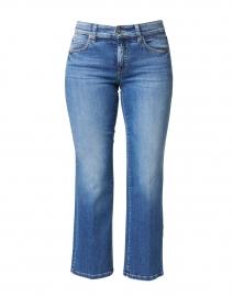 Paris Medium Blue Cropped Stretch Denim Jean