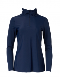 Ashley Navy Zip Up Top