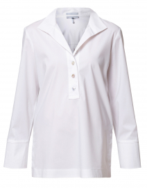Celine White Stretch Cotton Shirt
