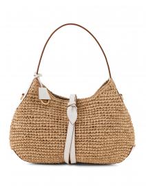 Petite Vivian White Raffia Hobo Bag