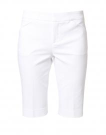 Heather White Premier Stretch Cotton Shorts