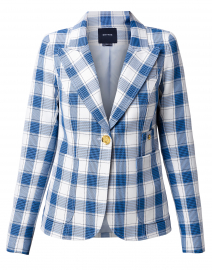 Duchess Blue and White Check Blazer