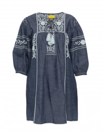 Abigail Indigo Blue Cotton Dress