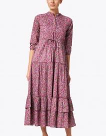 Banjanan - Bazaar Boysenberry Floral Cotton Voile Maxi Dress