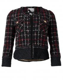 Black, White and Red Tweed Short Jacket