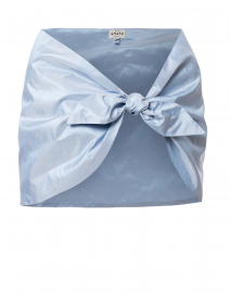 Pale Blue Silk Taffeta Shawl