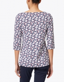Saint James - Garde Cote Imprim Navy, White and Red Floral Top
