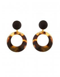 Ischia Tortoise Resin Drop Hoop Earrings