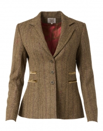 Mariane Camel Herringbone Tweed Blazer