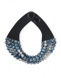 Audrey Blue and Silver Multistrand Necklace