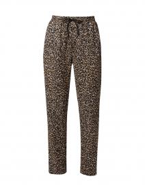Amara Leopard Print Knit Pull-On Pant
