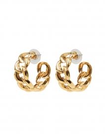 Tara Gold Link Hoop Earring