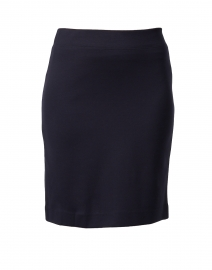 Navy Ponte Pull On Skirt
