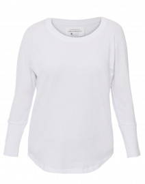 White Scoop Neck Bamboo-Cotton Top