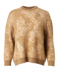 Aller Camel Intarsia Wool and Mohair Sweater