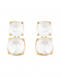 Crystal Square Gold Earrings
