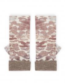 Brown Leopard Print Cashmere Gloves