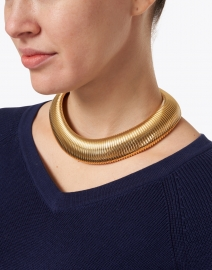 Gas Bijoux - Aida Gold Polished Cobra Necklace