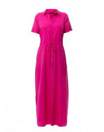 Raspberry Tencel Button Down Shirt Dress
