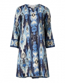 Isabel Blue Ikat Printed Cotton Dress