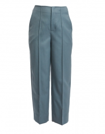 Blue Tapered Cropped Pant