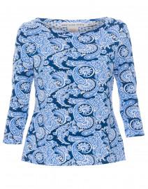 Magpie Blue Plentiful Paisley Stretch Cotton Top