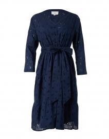 Capri Navy Eyelet Cotton Dress
