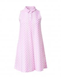 Harlee Pink and White Block Print Dress