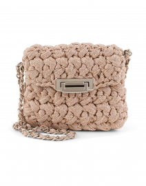 Nana Blush Pink Lurex Crossbody Bag