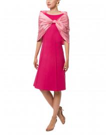 Amato - Pink Silk Taffeta Shawl