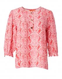 Karen Pink Snake Print Blouse