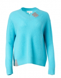 Candyland Turquoise and Grey Cashmere Sweater