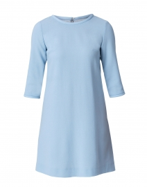 Lola Ice Blue Wool Crepe Dress