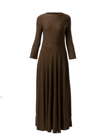 Olive Green Knit Maxi Dress