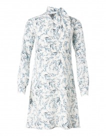 Millicent Pale Blue and White Floral Silk Dress