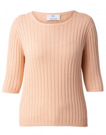 Melon Ribbed Cotton Sweater